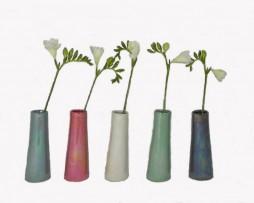 metalic bud vases