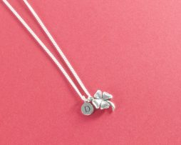 Lucky clover silver necklace