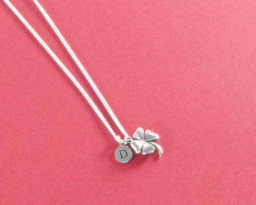 Lucky clover silver necklace