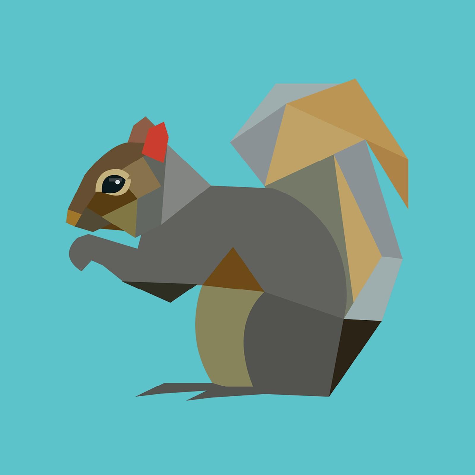 Alysha Dawn Squirrel Coaster