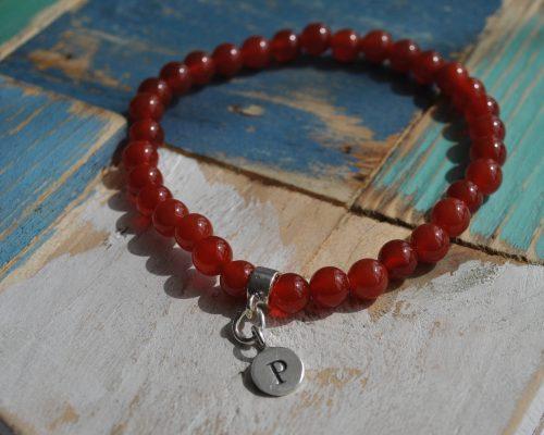 personalised gemstone bracelet