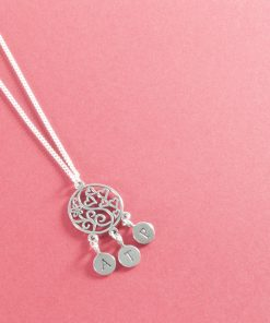 Made for three silver necklace