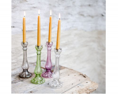 recycled glass candlestick