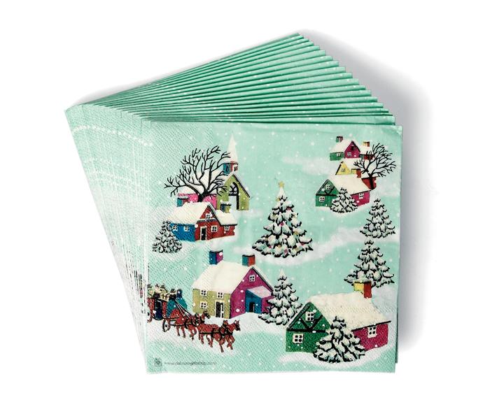 Christmas Napkins.Vintage Style Christmas Napkins