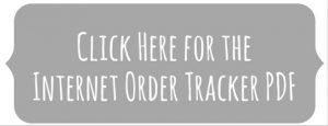 PDF internet order tracker
