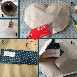 Sewn gift wrapping