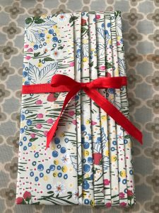 Pleating gift wrapping