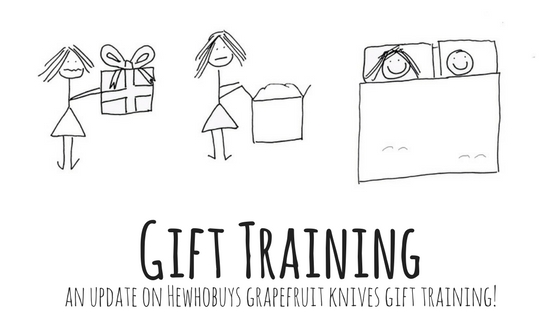 Gift Training Update 1! Training my husband to be a better gift giver.