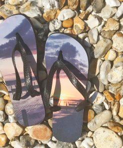 your photograph on flip flops
