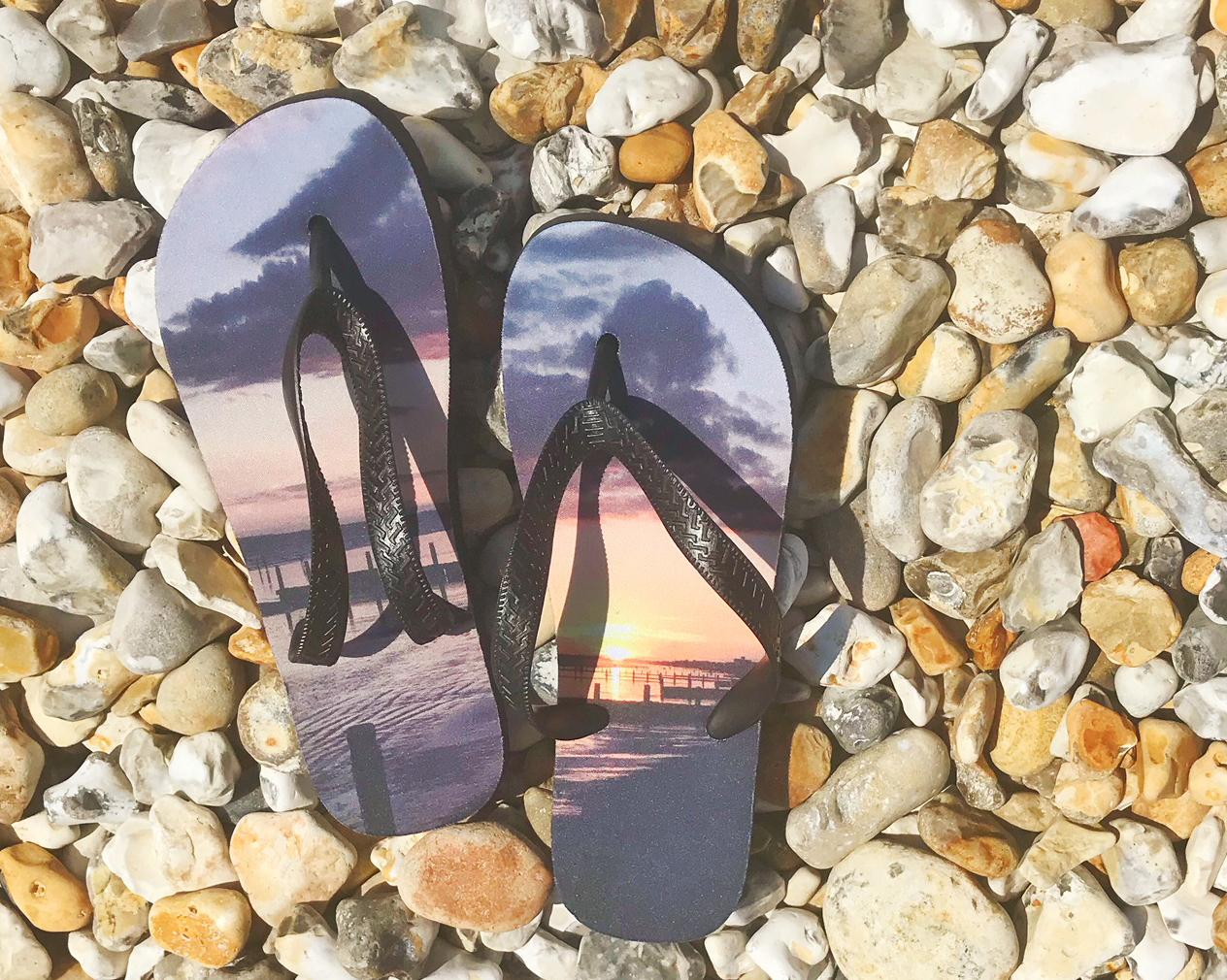your photograph on flip flops