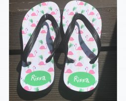 personalised name flip flops