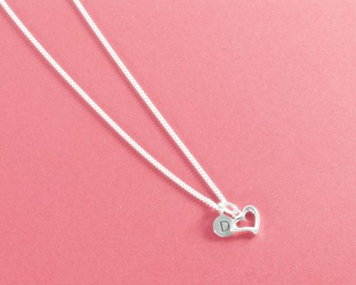 Pippa silver heart necklace