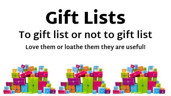 blog on gift lists