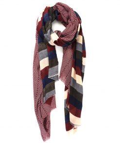 jessica burgundy scarf