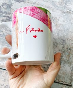 drawing on mug